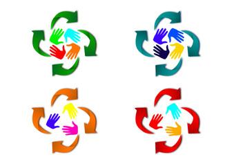 riciclaggio e mani colorate