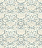 seamless vintage flower pattern background vector