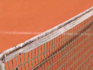 Tennisplatz mit Linie und Netz Schatten 88