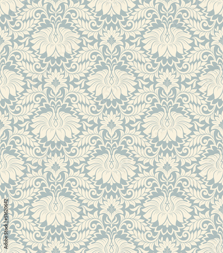 seamless vintage flower pattern background vector - 51620642