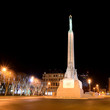 Milda - the monument of freedom in Riga. Latvia