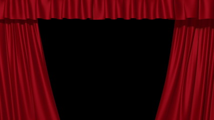 3d red curtains opening, HD, 1920x1080
