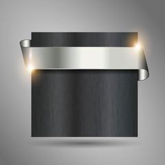 detailled metallic looking steel ribbon