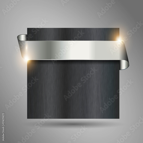 detailled metallic looking steel ribbon