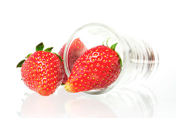 strawberry  Isolated on a white background.