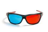 3D glasses over white background