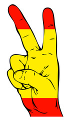 Peace Sign of the Spanish flag