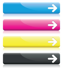 a set of cmyk arrow line banners