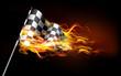 Fiery Race Flag