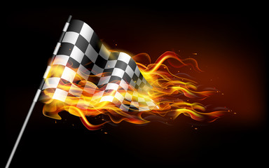 Fiery Race Flag
