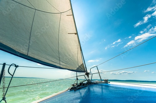 Sailing boat on the water © Sved Oliver
