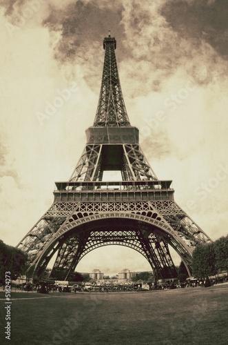 Vue vintage de Paris - France