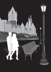 man and woman walking in the city6