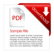 Pdf download card with file description