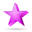 Pink star illustration