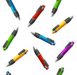 Vector Pattern of different pens