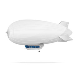 White dirigible balloon on a white background. Vector