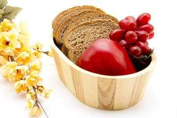 Toastbrot mit Weintrauben