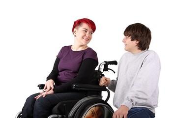 Rollstuhlfaherin im Gespräch