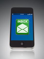 Inbox von Telefon in Grün