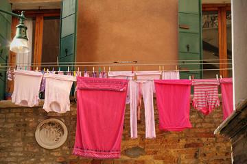 Waschtag in Italien