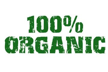 100% Organic text