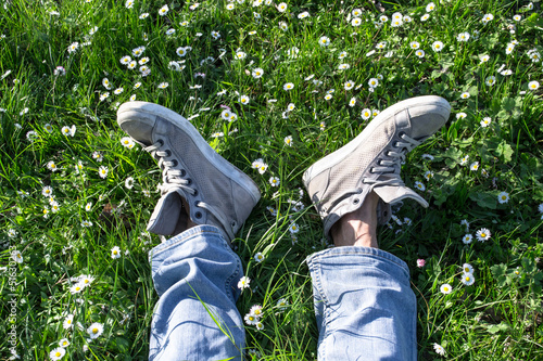 two feet among the daisies