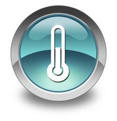 "Light Blue Glossy Pictogram ""Thermometer / Temperature"""
