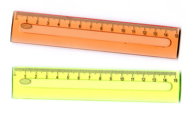 Two transparent rulers
