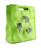 Eco market bag. Environmental conservation concept. 3D Icon