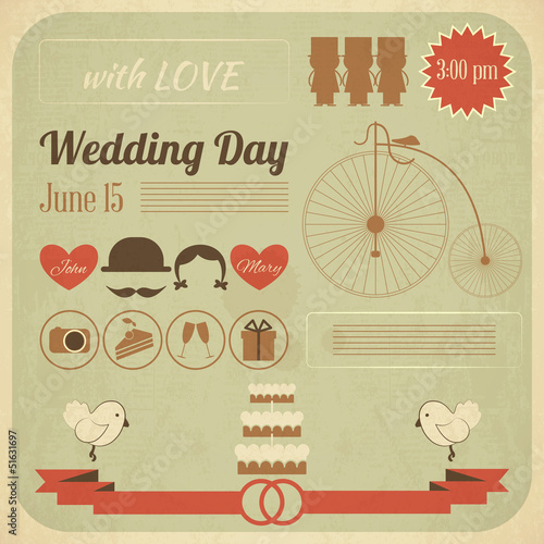 Wedding Day Invitation Infographics Card