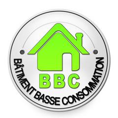 "Label ""Batiment basse consommation"" BBC"