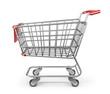 Market shopping cart 3D. Isolated on white background