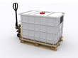 IBC Container auf Hubwagen