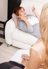 Woman on reception at the psychotherapist
