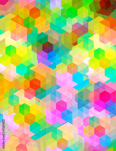 colorful hexagon texture, background