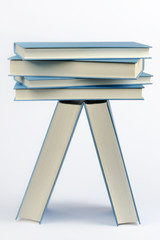 A stack of some closed blue books