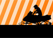 Snowmobile motorbike rider silhouette illustration