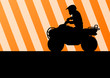 All terrain vehicle quad motorbike rider vector