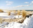 canvas print picture - schneebedeckte Düne