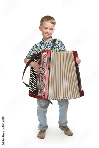 child with accordion