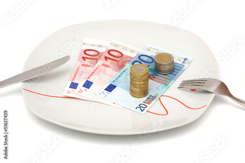 expensive food or no money for restaurant