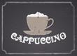 Chalkboard Cappuccino Design