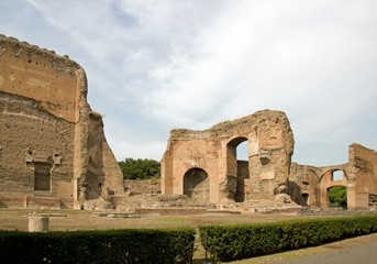 thermes de caracalla, ruines antiques, Rome Italie