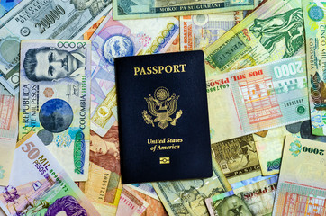 American Passport and Currency