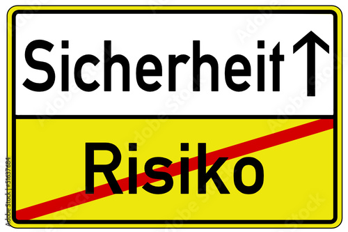 Risiko Sicherheit Schild  #130421-svg03
