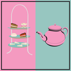 Afternoon Tea Retro Background