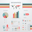 Infographics design elements template. Chart, graph, diagram