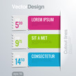 Infographics cutout lines design template.