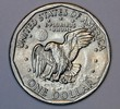 US dollar coin with eagle